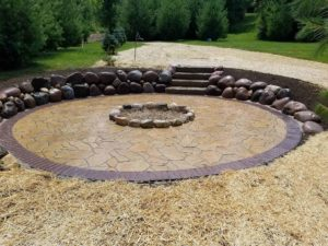 Neosho Lake Fire Pit Hardscape Project | Extreme Green Lawn & Landscape | Germantown, WI