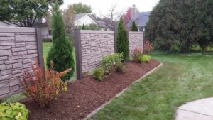Privacy Wall Fence in Yard | Extreme Green Lawn & Landscape | Germantown WI