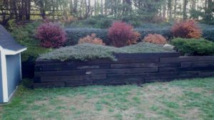 Replacing Railroad Ties With Brick Retaining Wall Extreme Green Lawn Landscape