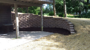 Yard Regrading and Retaining Wall Rebuild Hubertus WI | Extreme Green Lawn and Landscape