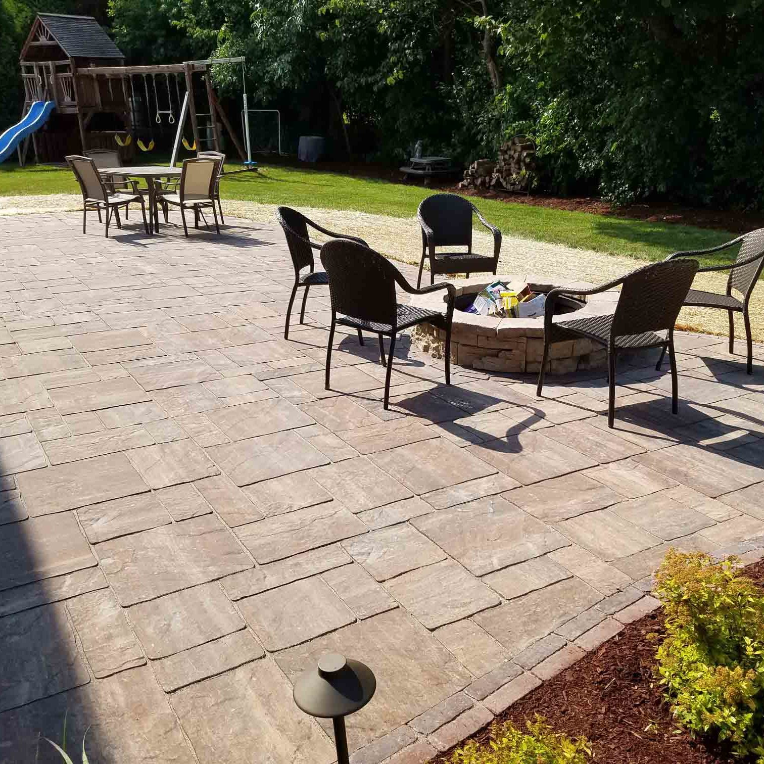 Backyard Patio Replacement and Enlargement | Extreme Green Lawn and Landscape